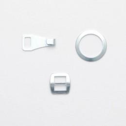 Bow Tie Fastener 6mm 3 Piece Set Silver