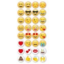 15mm Eleganza EMOJIs Adhesive Domed backed Craft Stickers Phones IPads Notebooks Cards