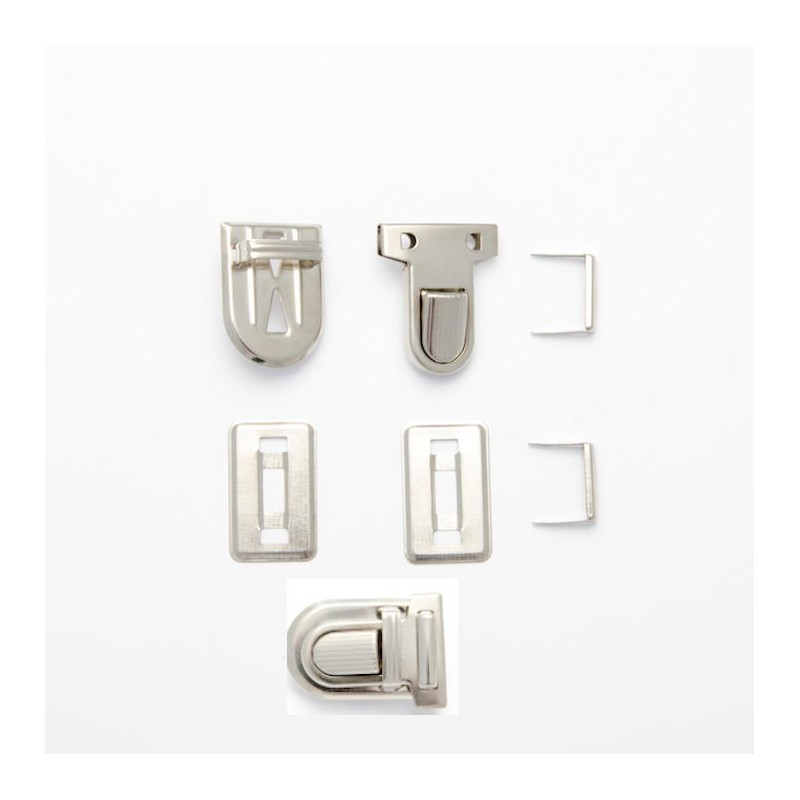 1 x Chrome Tuck Lock 26mm Handbag Purse Briefcase Clasp