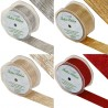 Eleganza 38mm Satin Wired Edge Ribbon Festive Shimmer Christmas Wedding