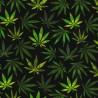 100% Cotton Poplin Fabric Rose & Hubble Mary Jane's Hemp Plant Garden Leaves