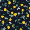 100% Cotton Poplin Fabric Rose & Hubble Lemon Tree Floral Flower Branches