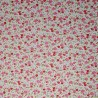 100% Cotton Poplin Fabric Small Ditsy Bethany Rose Floral Flower Leaves