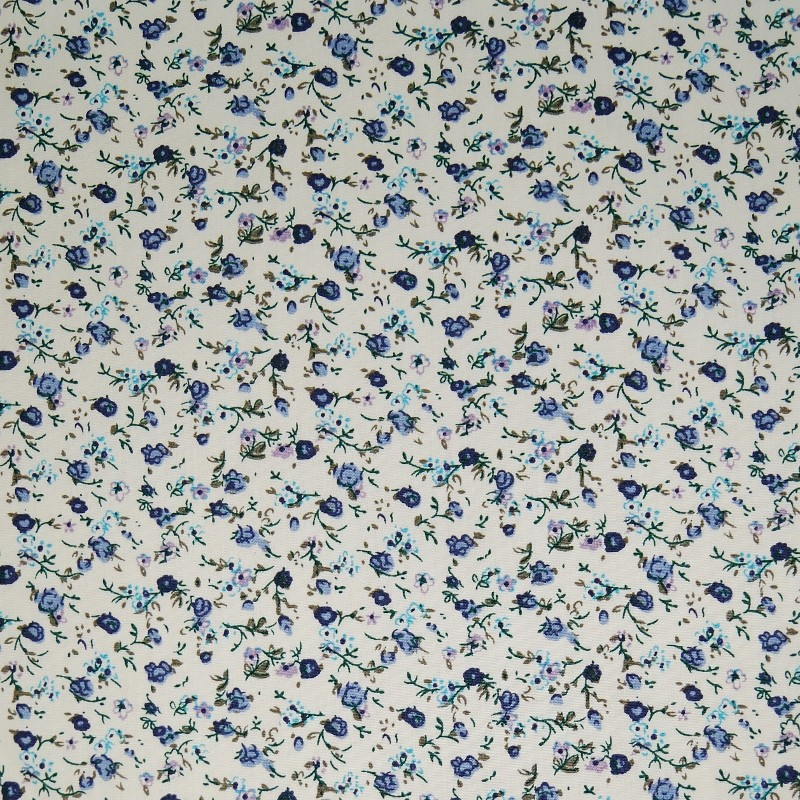 2 YARDS Cotton Poplin Ditsy Floral Print Fabric Red Pink
