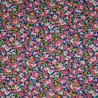 100% Cotton Poplin Fabric Colourful Ditsy Maxine Clustered Floral Flower Leaves