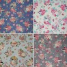 100% Cotton Poplin Fabric Cute Forest Animals Floral Flower Badger Mouse
