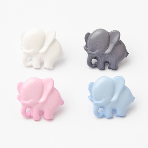 Baby Elephant Button 14mm...