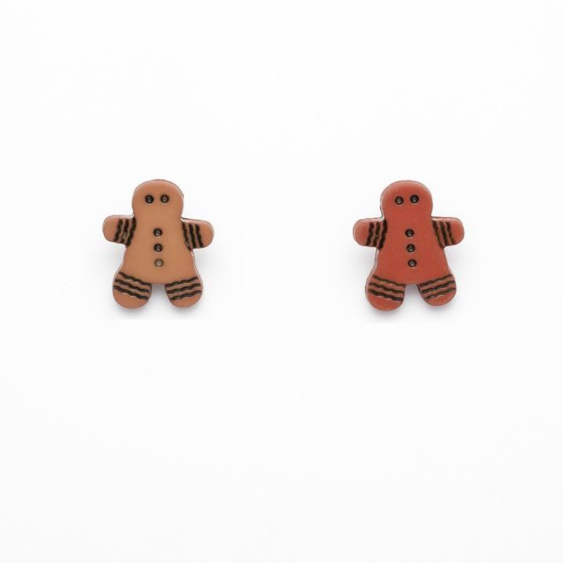 Gingerbread Man Button 16mm...