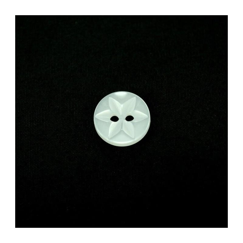 13mm Metallic 6 Point Star Acrylic Plastic Buttons