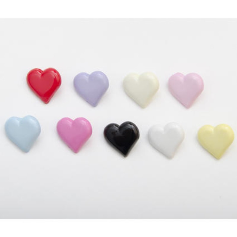 Heart Shaped Buttons 15mm...