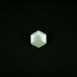 Ivory Hexagon 10mm Acrylic Plastic Buttons