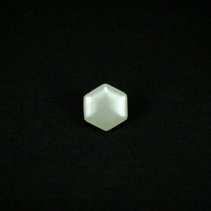 Ivory Hexagon 10mm Acrylic...