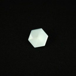 Metallic Hexagon 13mm Acrylic Plastic Buttons
