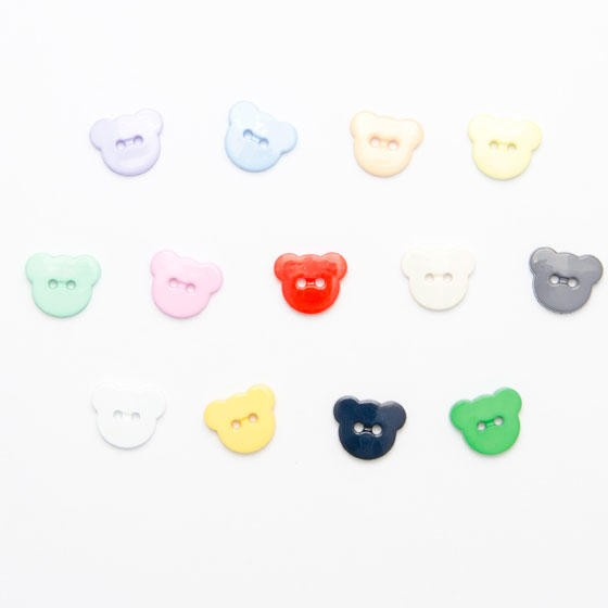 Teddy Head Button 15mm 2...