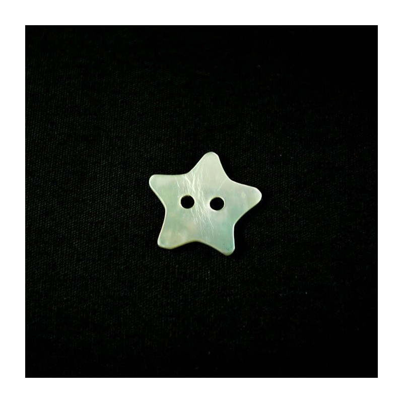 15mm Pearl Star Sea Shell Buttons