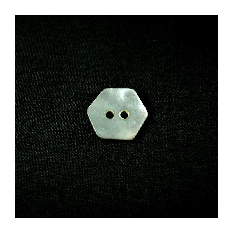 14mm Pearl Hexagon Sea Shell Buttons