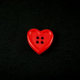 Bright Red Heart 15mm Acrylic Plastic Buttons