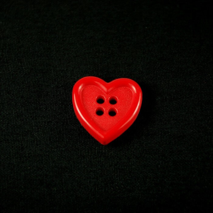 Bright Red Heart 15mm...