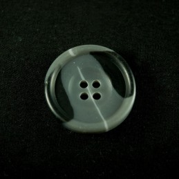 Black And Grey 25mm Acrylic Plastic Buttons