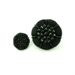 Black Diamond Flower Head Plastic Buttons