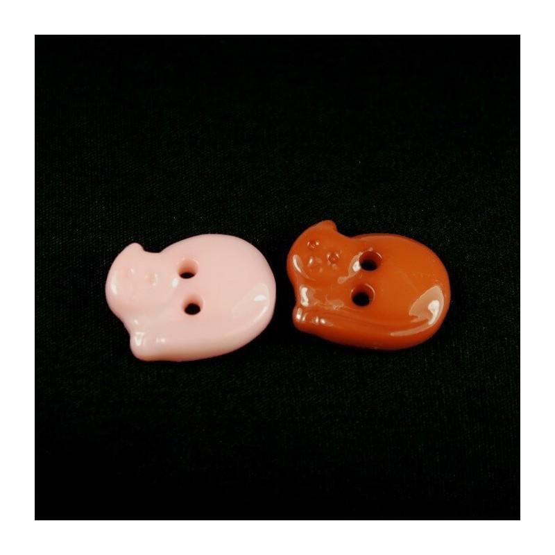 Sleeping Kitty Cat 18mm Acrylic Plastic Buttons