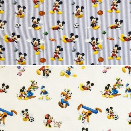 100% Cotton Digital Fabric Disney Mickey Mouse & Friends Goofy Donald Duck