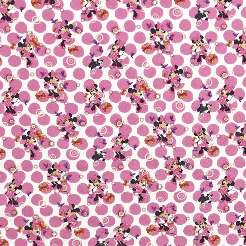 Disney Minnie Mouse Shopping Fashion Accessories 100/% Cotton Fabric 140cm Wide