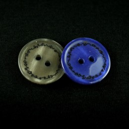 Metallic Scribble Border 20mm Acrylic Plastic Buttons
