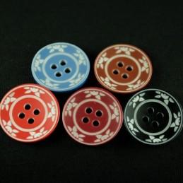 Matte Sunset 20mm Acrylic Plastic Buttons