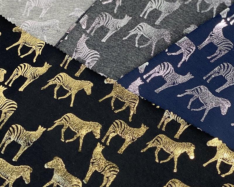 Cotton Jersey Fabric Zebra...