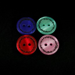 Metallic Scribble Border 15mm Acrylic Plastic Buttons