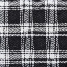 Black 100% Polyester Tartan Fabric Fashion Skirt Dress Dungarees Trousers 150cm Wide