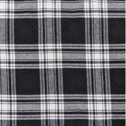 Black 100% Polyester Tartan Fabric Fashion Skirt Dress Dungarees Trousers 150cm Wide