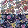 100% Cotton Poplin Fabric Rose & Hubble Potter Lane Large Blooming Floral Flowers Colourful