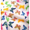 Polycotton Fabric Colourful Pretty Butterflies Bugs Insects Butterfly