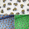 100% Brushed Cotton Fabric R.E.D. Textiles Off Roader Vehicle 4x4 Car Road Jeep