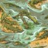 100% Cotton Fabric Nutex Crocodile's Beware Crocodile Swamp