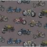 100% Cotton Fabric Nutex Classic Ride Motorbikes Vintage Retro