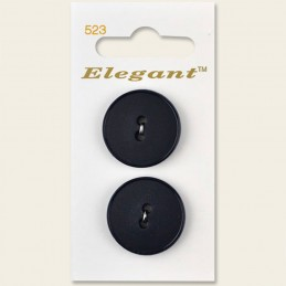 Sirdar Elegant Round Rimmed Edge Plastic Button Navy 25mm 2 Hole Pack of 2