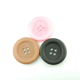 Giant Matte Dish 28mm Acrylic Plastic Buttons