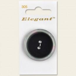 Sirdar Elegant Large Pearlescent Rim Plastic Button Black 38mm 2 Hole Pack of 1