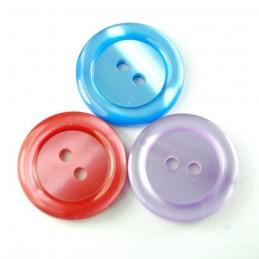 Deep Dish Metallic 22mm Acrylic Plastic Buttons