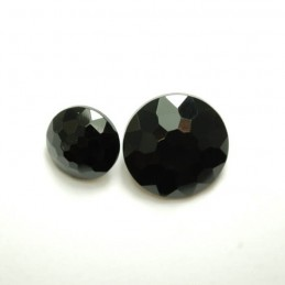 Black Diamond Mosaic Acrylic Plastic Buttons