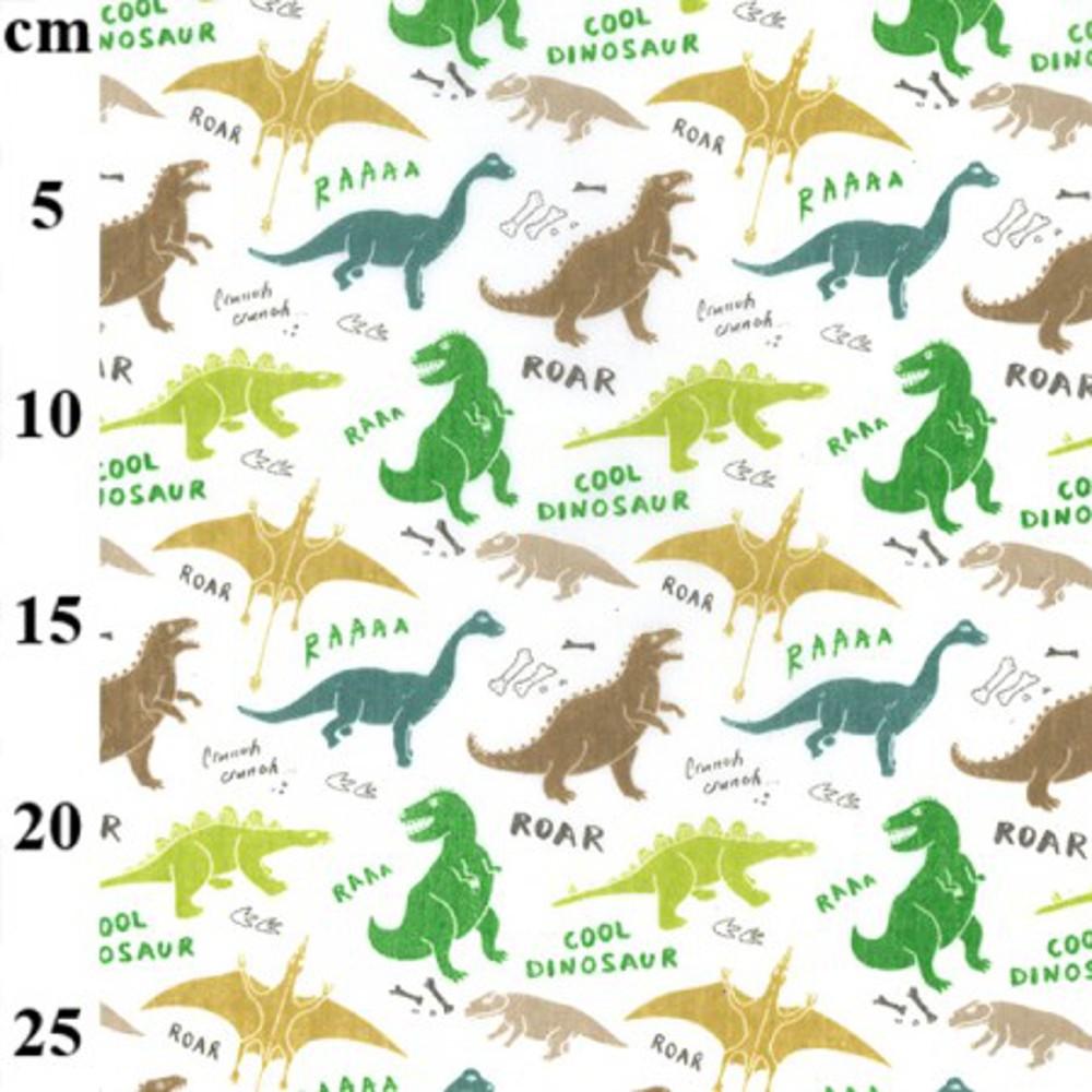 Polycotton Fabric Dinosaurs...
