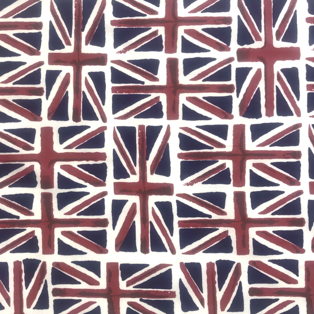 Polycotton Fabric Patriotic England Union Jack Flag Great Britain Flags