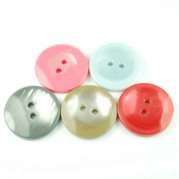 Metallic Silk 20mm Acrylic Plastic Buttons