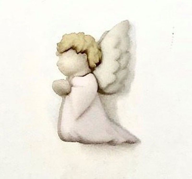 Little Angel Wings Button...