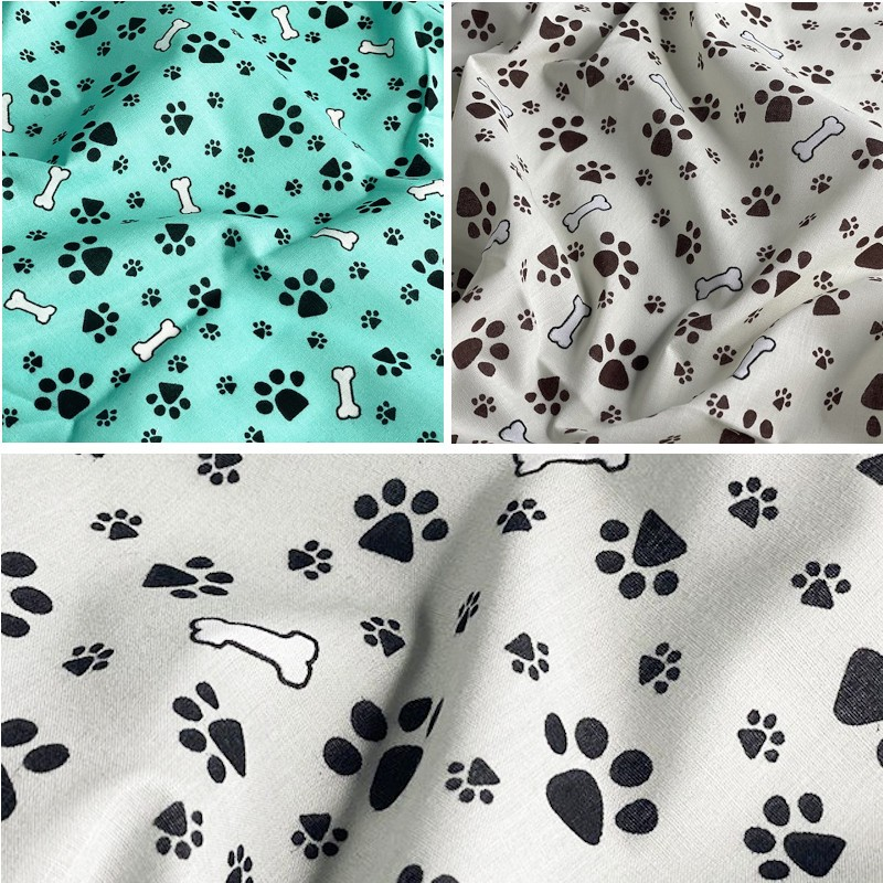 Polycotton Fabric Paws and...