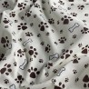 Polycotton Fabric Paws and Bones Dog Doggy Puppy Paw Print