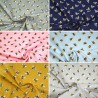 100% Cotton Fabric Bumble Bee Buzzy Bumblebee Insect 140cm Wide Crafty